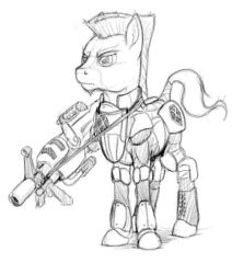 Earth pony Heavy - standard armor