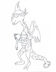 Therian-Teenage Dragon OC (pre-color)
