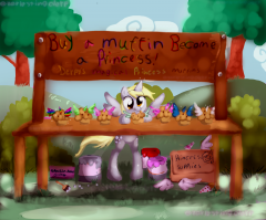 Buy a muffin, become a princess!