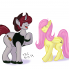 Tex Critter & Fluttershy - Colorized