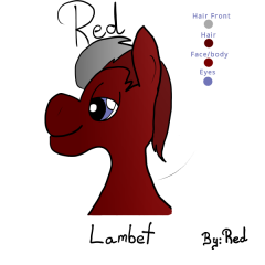Red Lambet head shot
