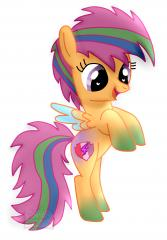 Rainbow Powered Scootaloo