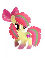 Rainbow Powered Apple Bloom