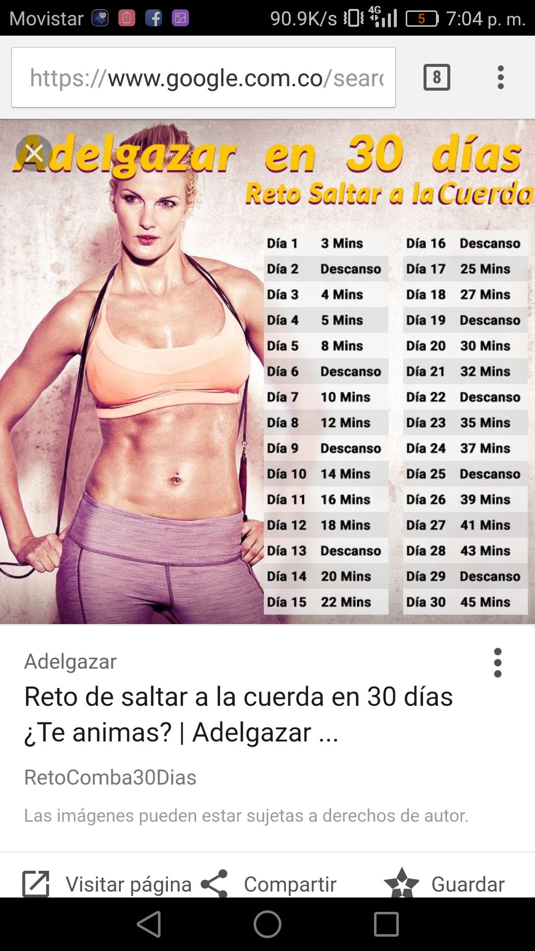 bajar de peso saltando la cuerda tiempo