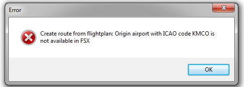KMCO Invalid ICAO?? - EFB v1 (Read only, no longer supported
