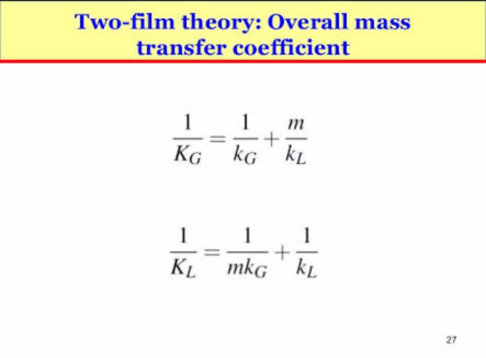 What is F-type and K-type mass transfer coefficient?