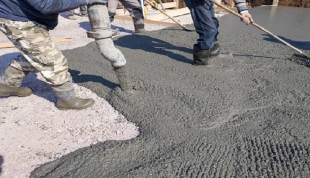 DEFINE THE PLACING OF CONCRETE AT SITE