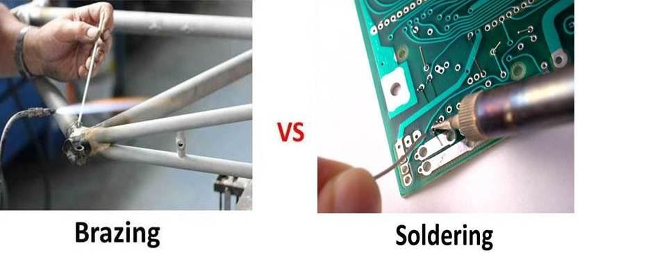 What is the difference between Brazing and Soldering and when Brazing is used?