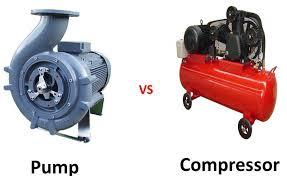 What is the difference between pump and compressor ?