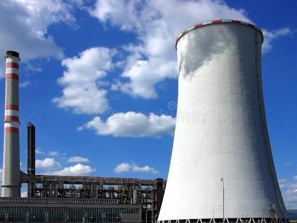 Why tall chimneys are used in thermal plants?
