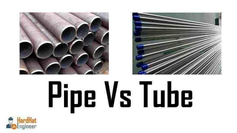 What are the differences between pipe and tube ?