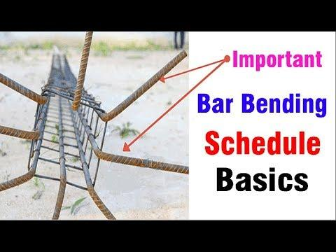 WAHT ARE THE BAR BENDING SCHEDULE ?