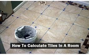 HOW TO CALCULATE NUMBER OF TILES IN A ROOM