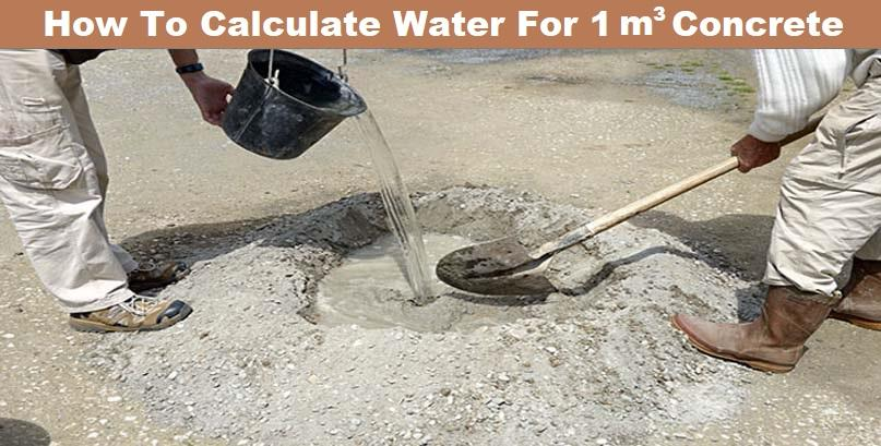 HOW TO CALCULATE WATER CONTENT FOR 1 M³ M25 CONCRETE