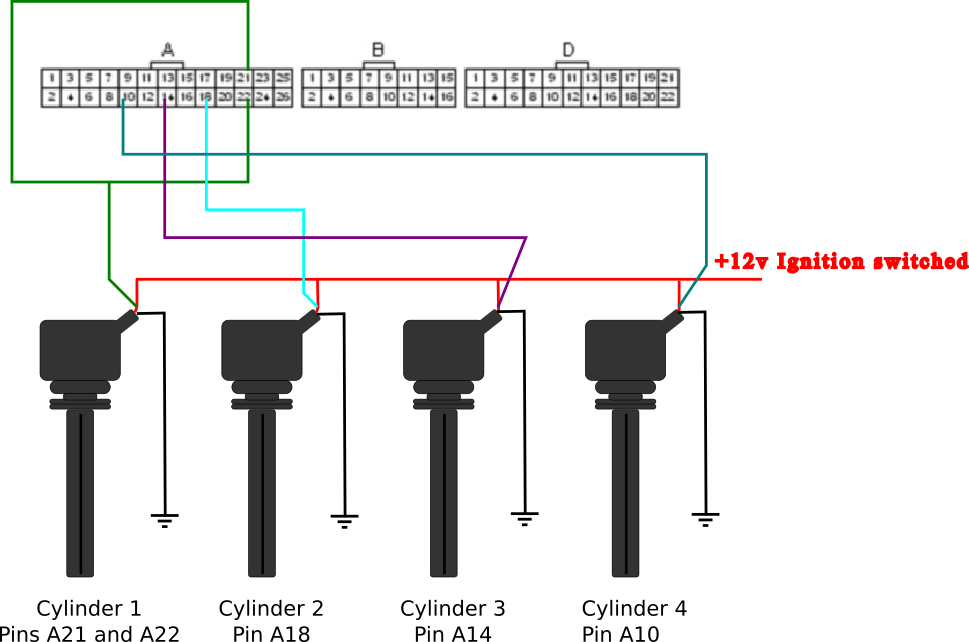 how to set up link plug in b16a coil on plug - G4+ - Link ... D B Distributor Wiring Diagram on