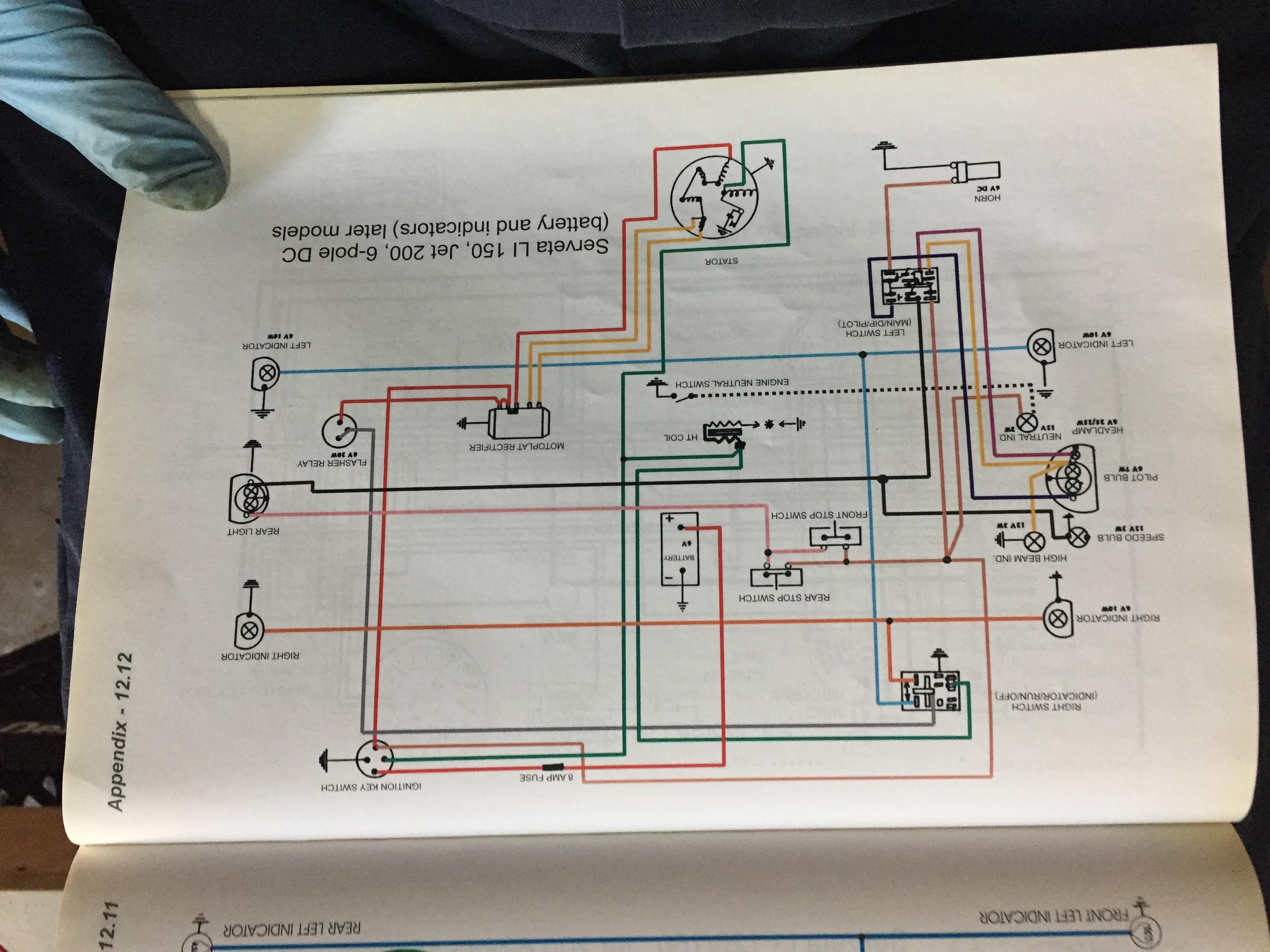Serveta AC Wiring Series 1 2 3 to GP Lambretta Club USA – Lambretta Wiring Diagram