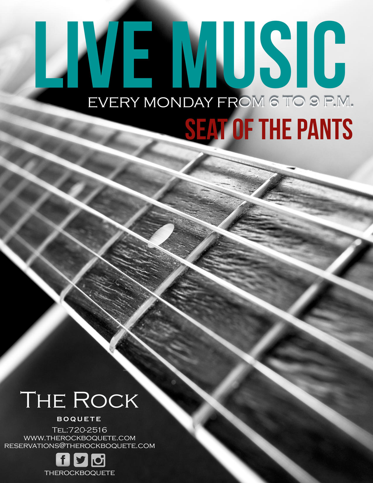 Monday Live Music at The Rock Boquete