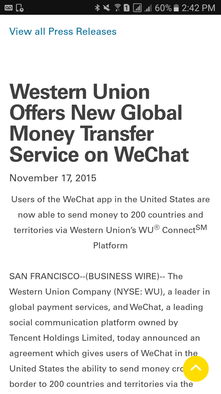 Ripples >> Western Union >> Tencent (WeChat) - General Discussion ...