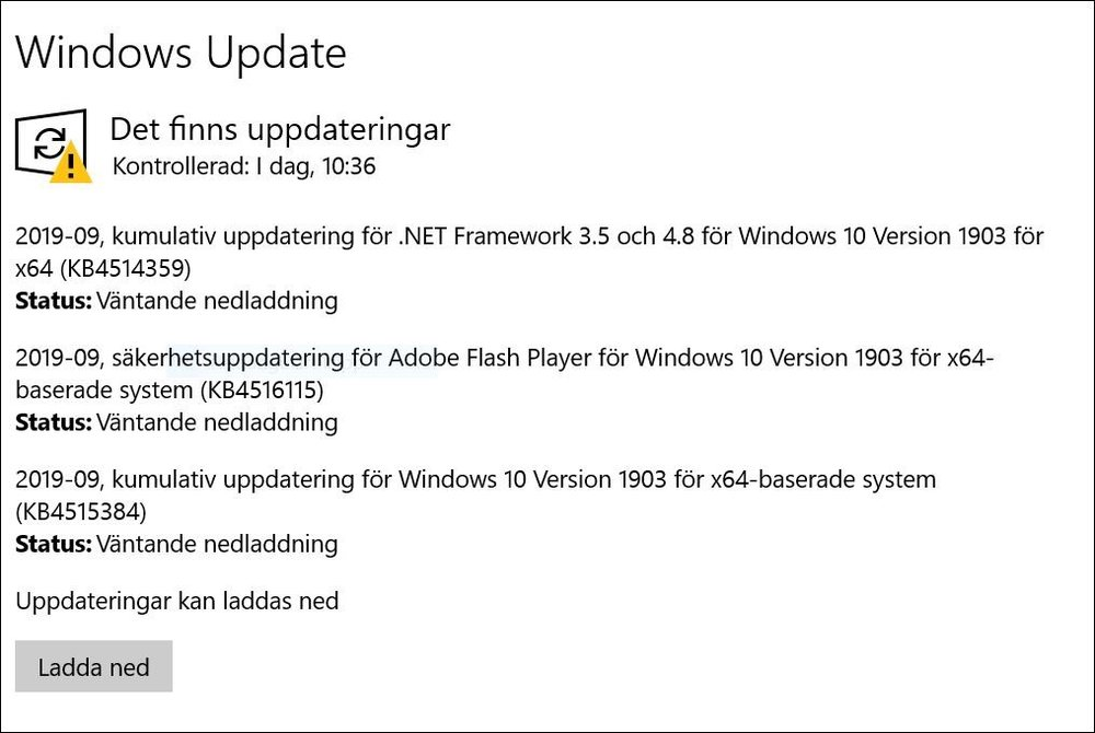 Skärmklipp Windows Update.JPG
