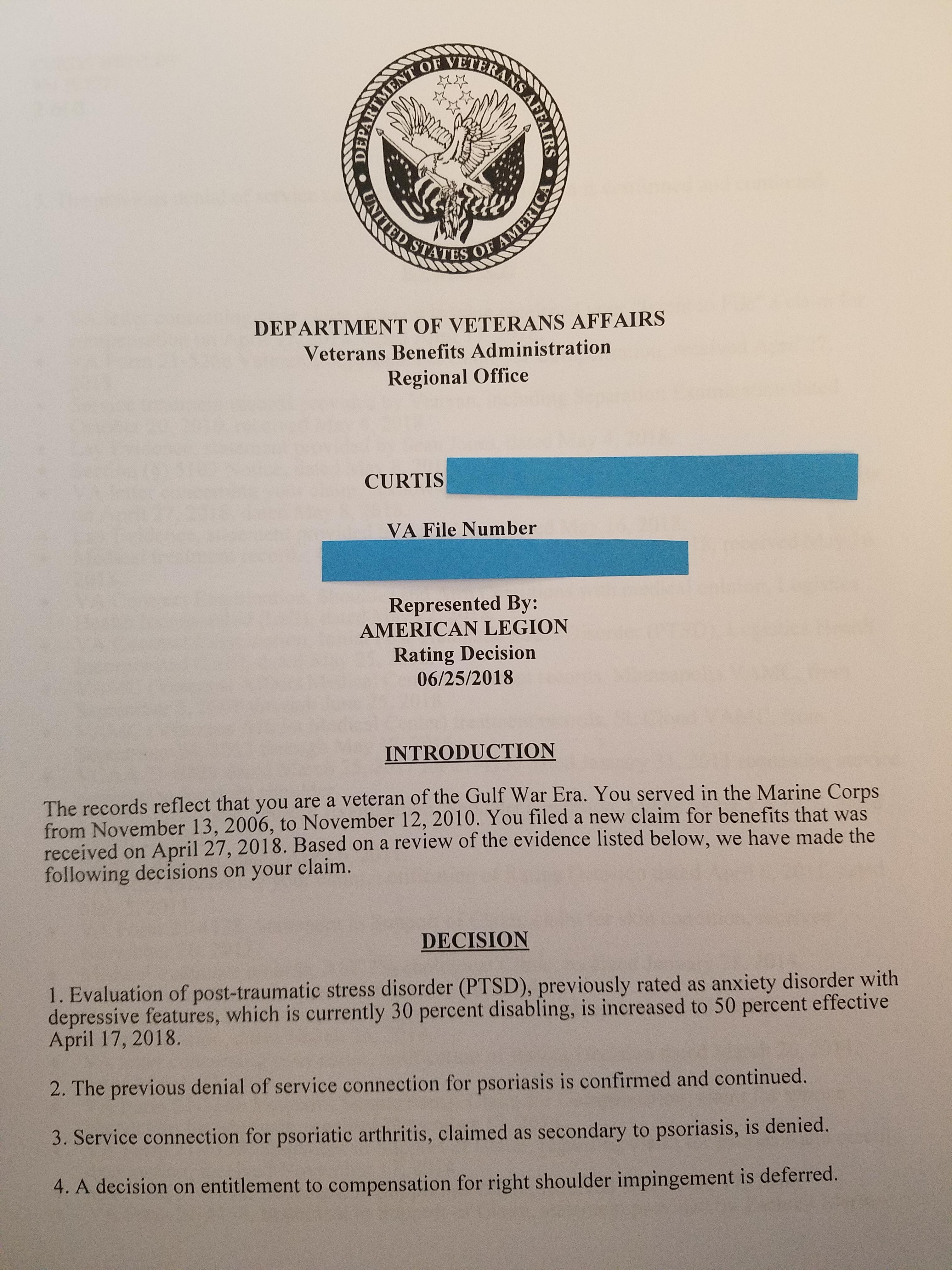 My Claim: Increased, Denied and Deferred - Page 2 - VA Disability