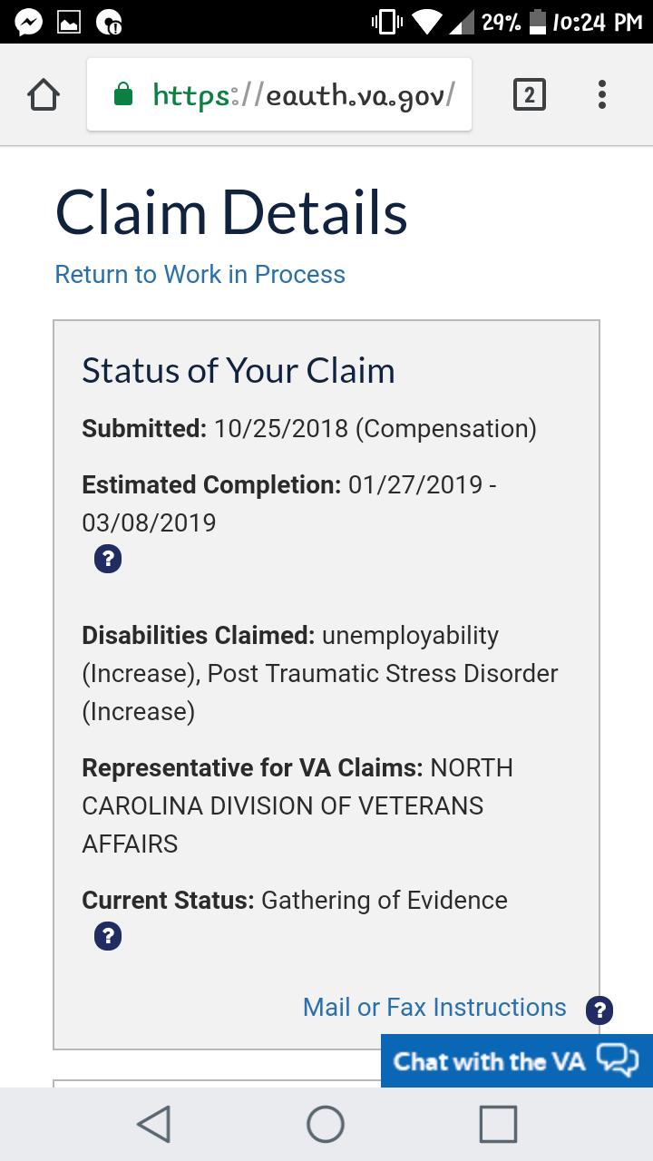 Individual unemployability/ PTSD Increase - TDIU