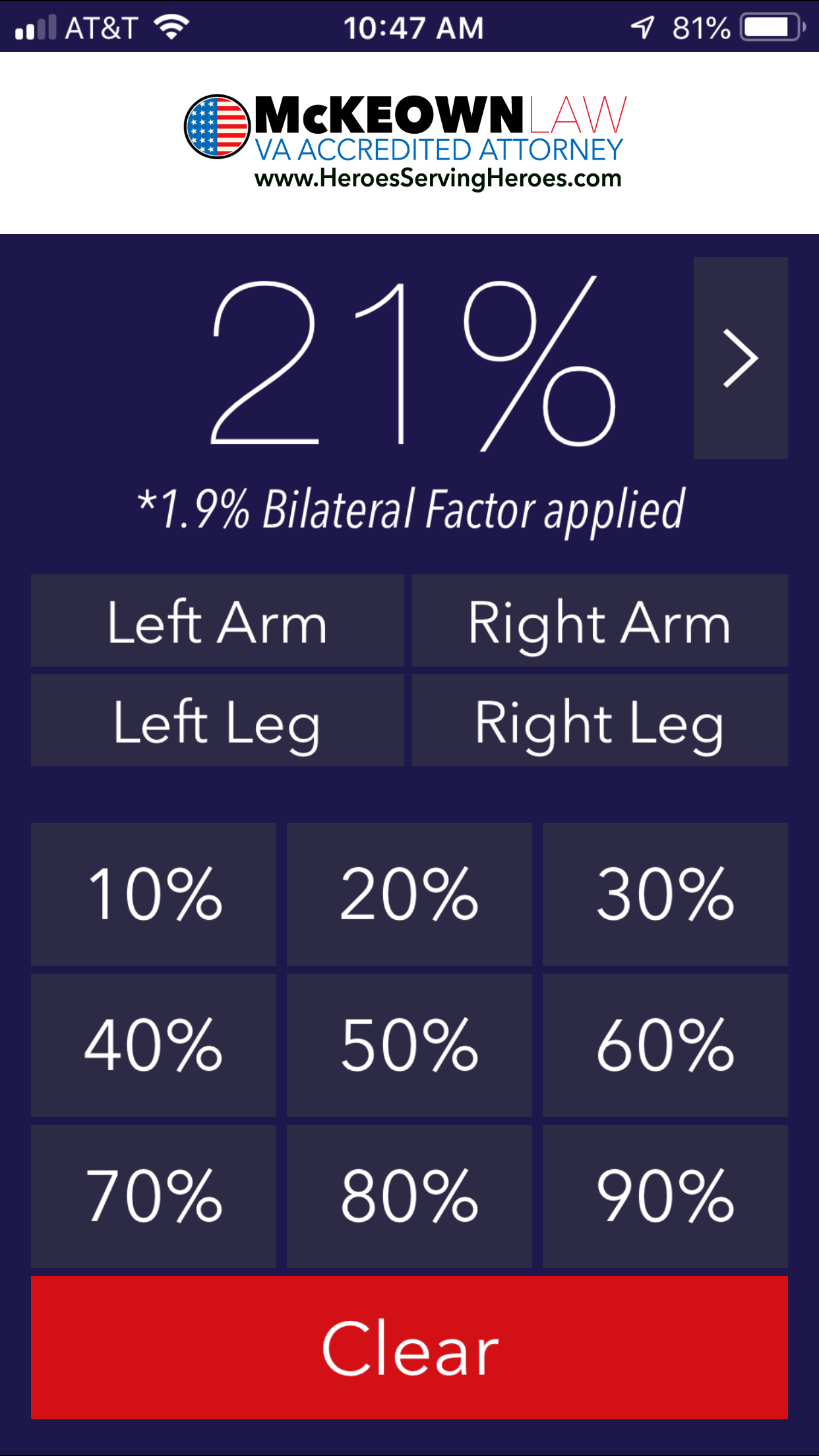 MULTIPLE RATINGS FOR KNEE ISSUES QUESTION - Appealing Your