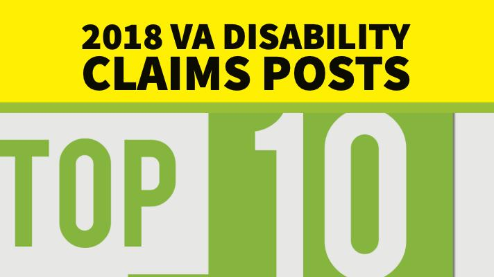 2018 Top Veterans Affairs Disability Claims Posts