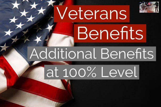Additional 100% Disabled Veteran Benefits