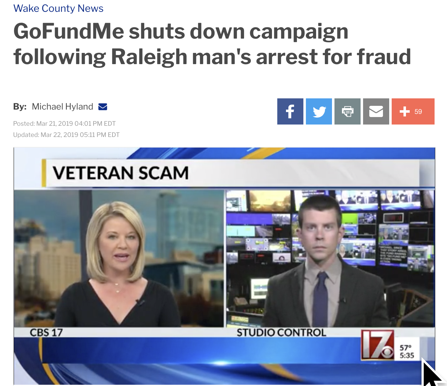 Man using HadIt name to collect funds -  Go FundMe shuts down campaign following Raleigh man's arrest for fraud