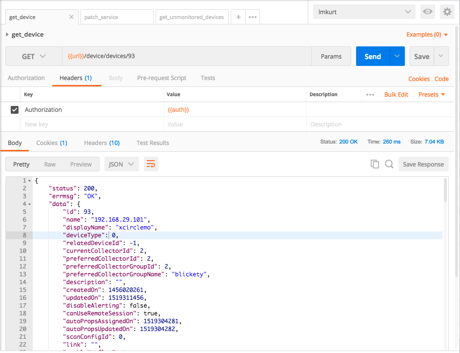Accessing the LogicMonitor REST API with Postman and LMv1