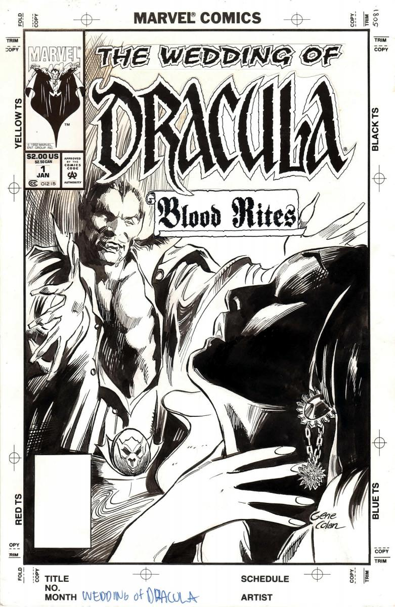 Wedding Of Dracula Original Art Cover Other Themes Cgc Comic