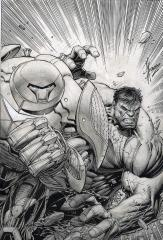 Indestructible Hulk 6 Variant Edition Original Art Cover