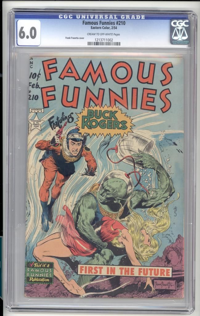 Famous Funnies 210 (Frazetta Buck Rogers cover)