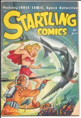 Startling Comics 52 (Schomburg airbrushed cover)