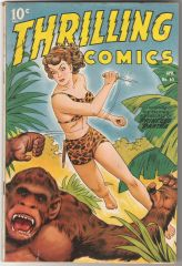 Thrilling Comics 65 (Schomburg airbrushed cover)