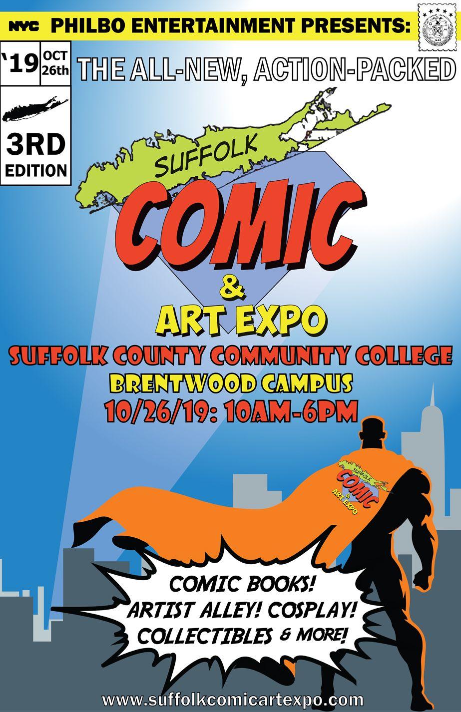 Suffolk Calendar 2019 Suffolk County Comic and Art Expo | Suffolk County, Long Island
