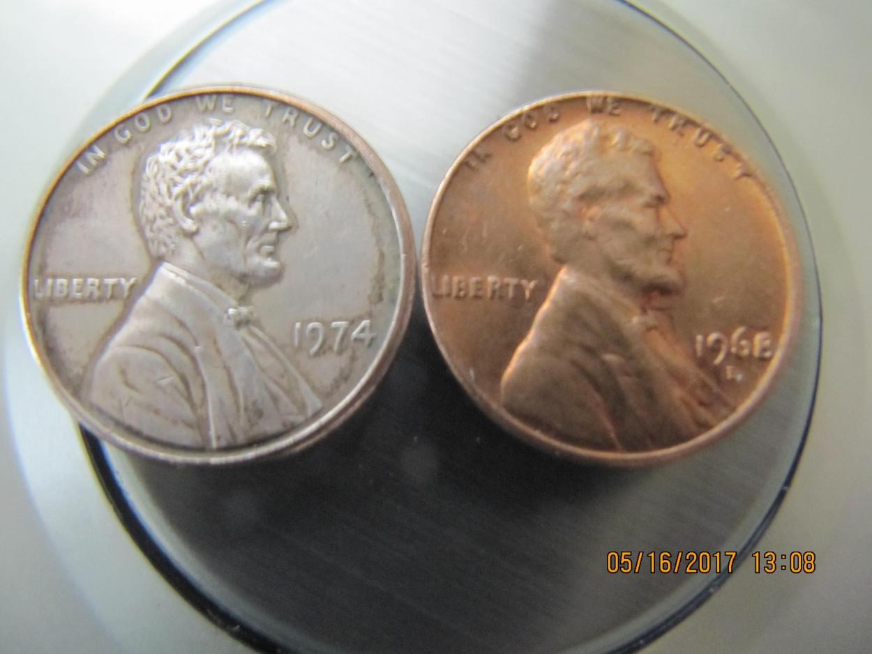 What is this coin? 1974 penny, sticks to magnets? - US