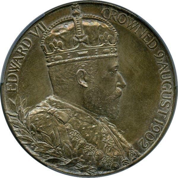 1902 Edward VII Coronation Medal in Silver, obverse.jpeg