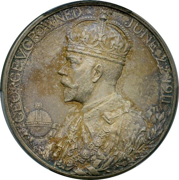 1911 George V Coronation Medal in Silver, obverse.jpeg