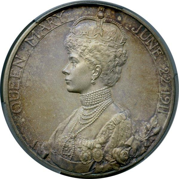 1911 George V Coronation Medal in Silver, reverse.jpeg