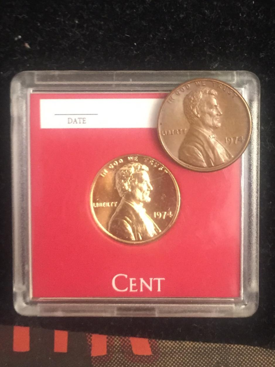 What is this coin? 1974 penny, sticks to magnets? - US, World, and