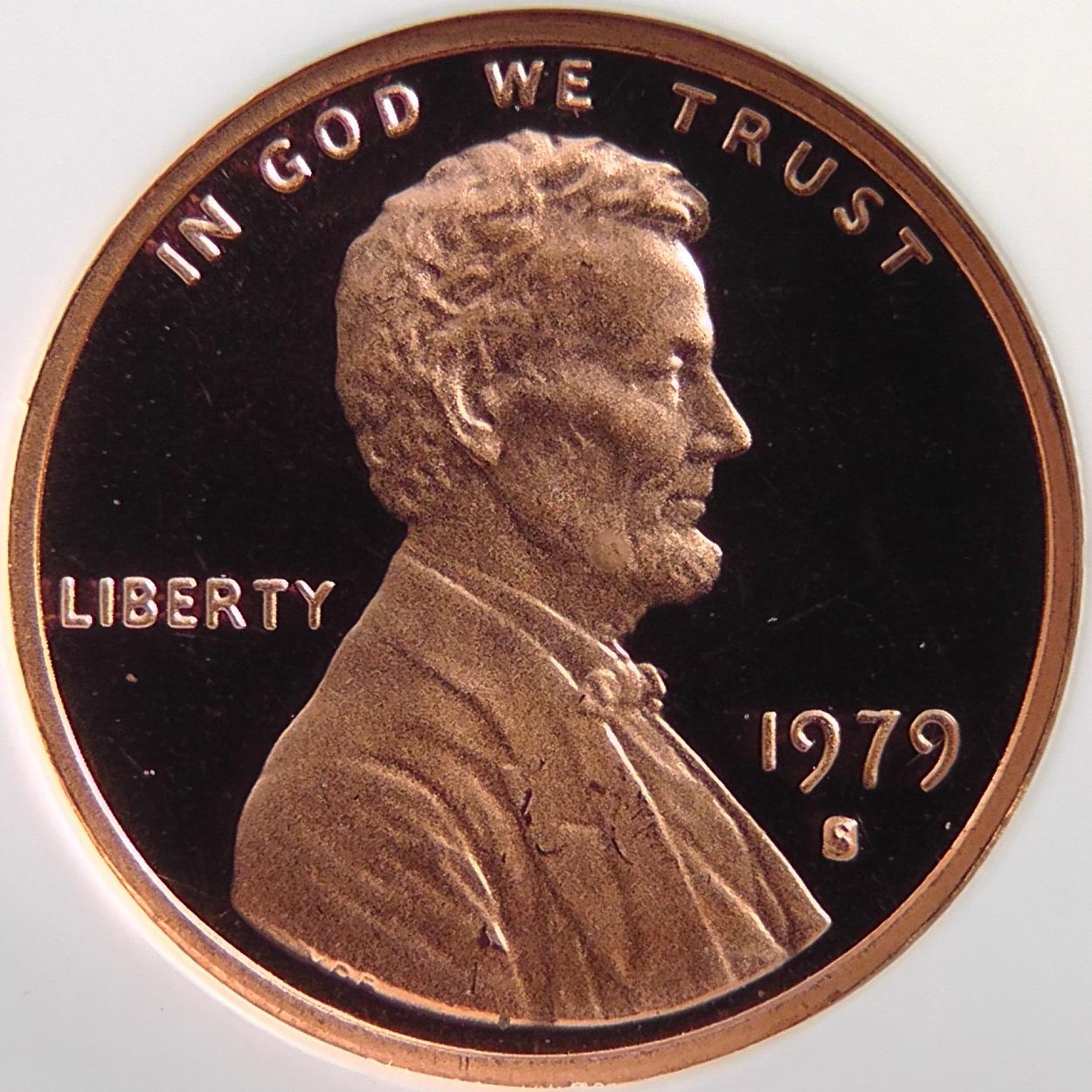 Lincoln Monument Ghost, filled D mint with Skelton face 1979 Lincoln