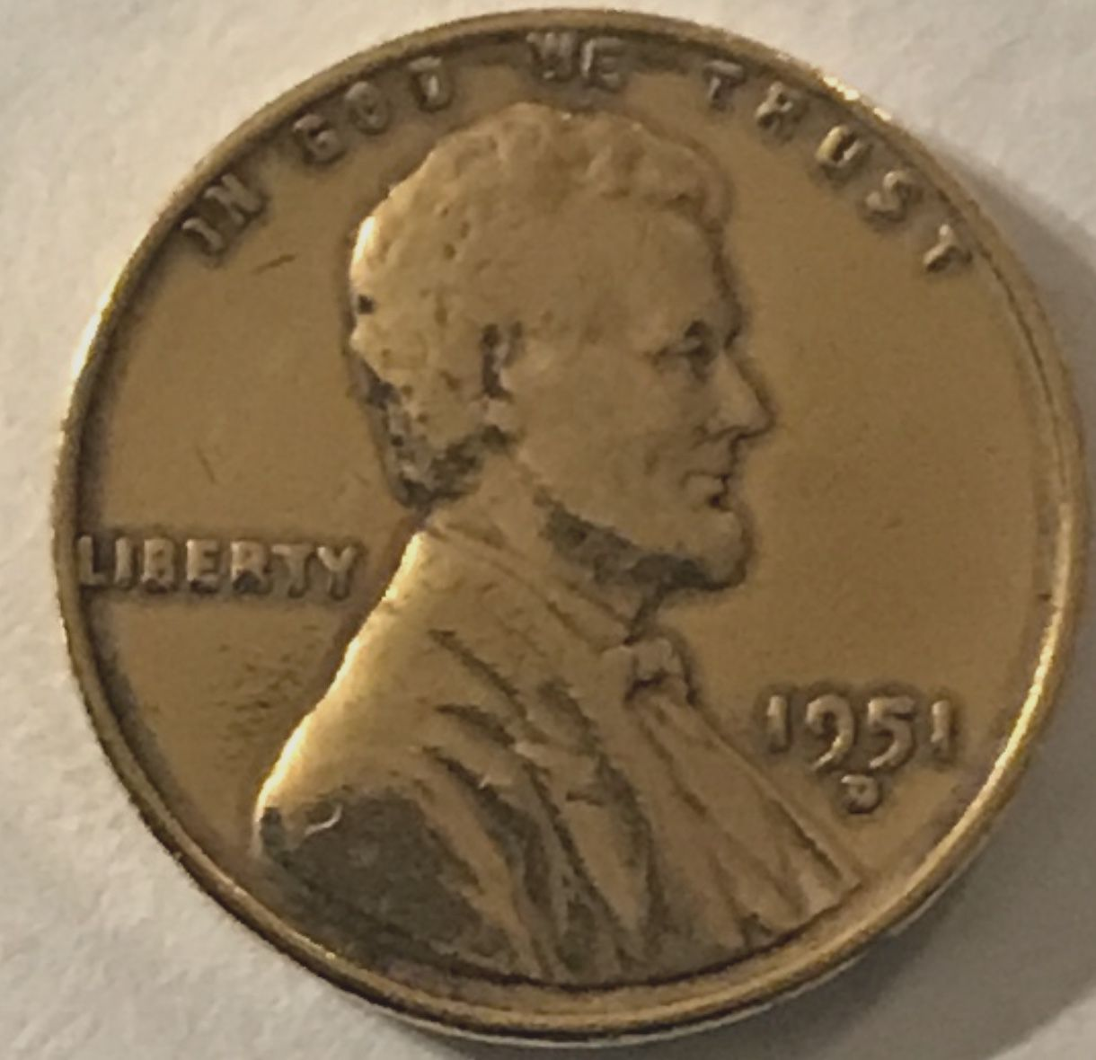 1951-d Gold colored Wheat penny - Newbie Coin Collecting