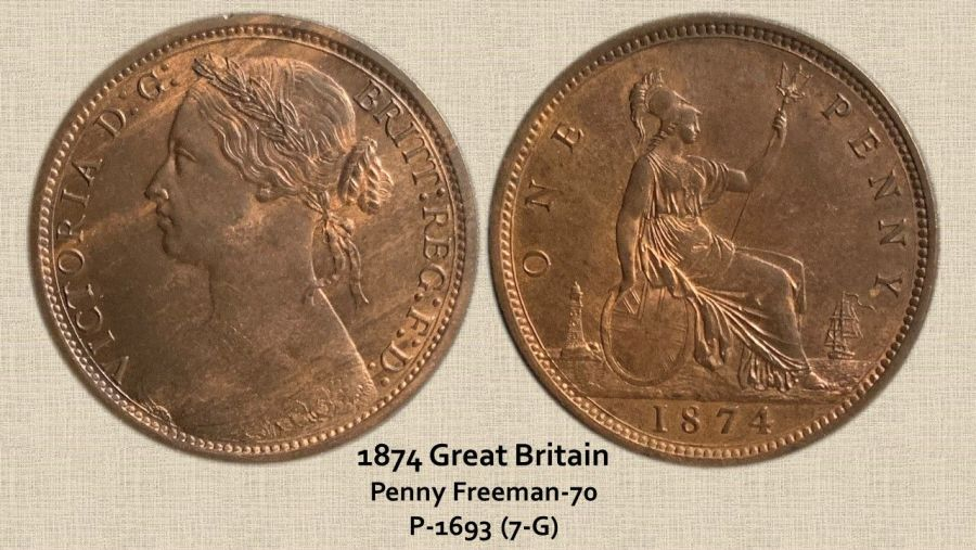 1874 Great Britain Penny Freeman-70 P-1693 (7-G).jpg