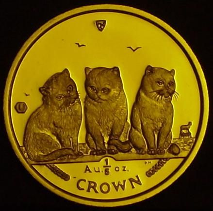IoM Fifth Crown Cats 2006 0.2 oz Au Reverse.JPG