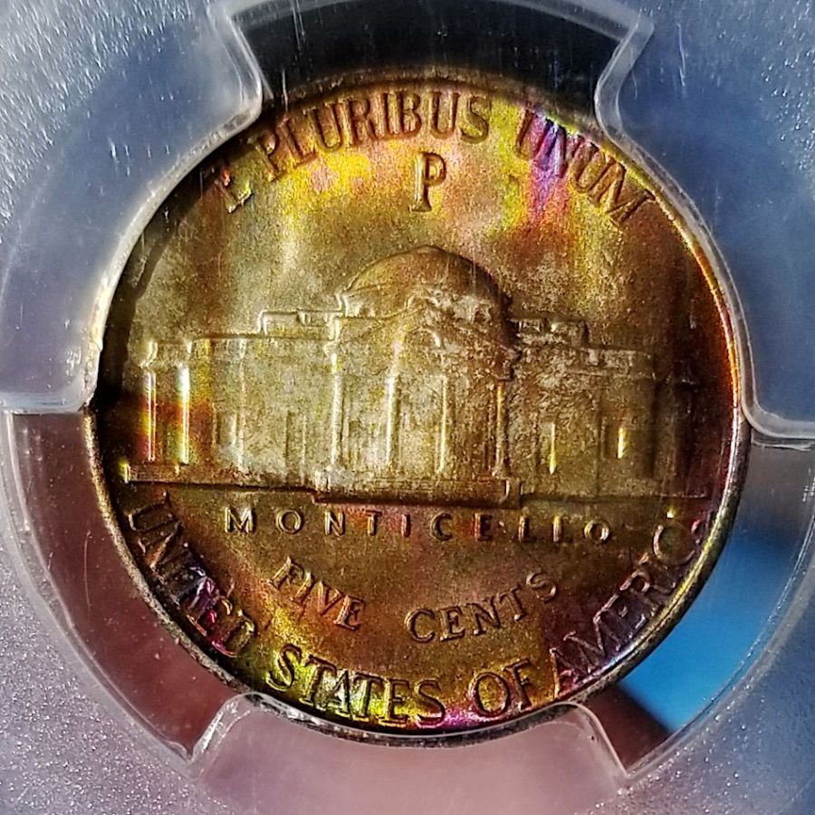 1942 P 5c MS67 FS Reverse RAINBOW CLOSE full sun.jpg