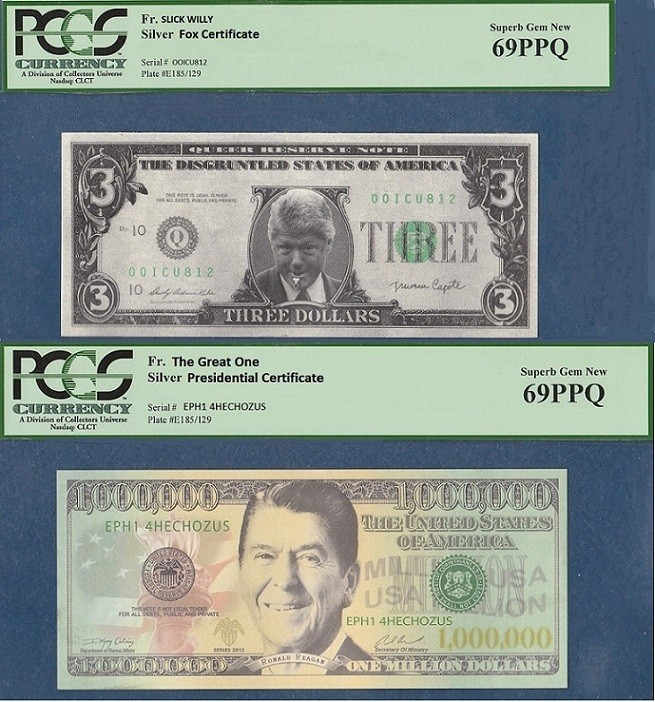 New Presidential Silver Certificates