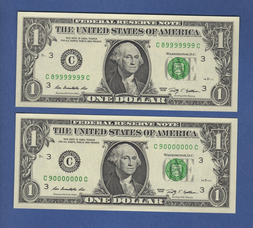 2009 Philadelphia federal reserve note