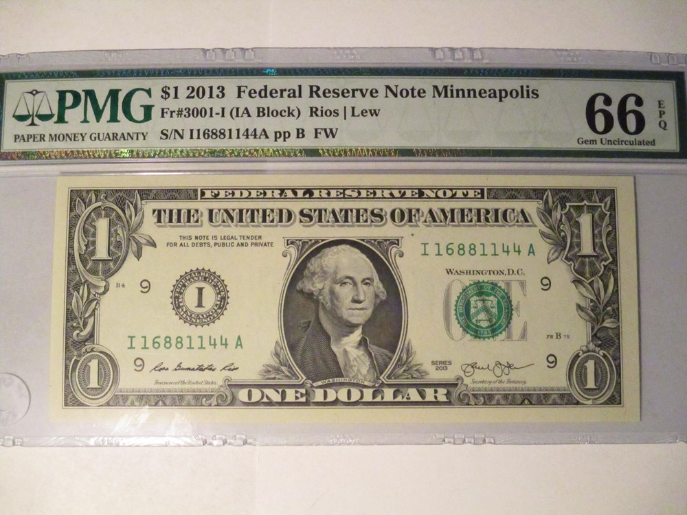 ADDING - ONES in FEBUARY 2016 - MORE NEW SMALL SIZE FEDERAL RESERVE NOTES