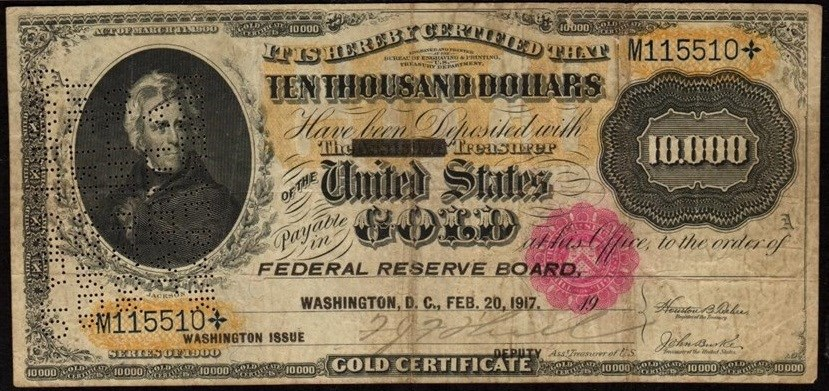 Cool 100th Anniversary of $10,000 Gold Certificate